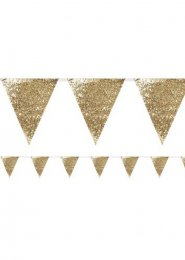 Deluxe Gold Glitter Party Bunting 3m