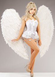 Stunning Extra Large White Feather Angel Wings