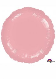 Inflated Pearl Pastel Pink Circle Helium Balloon