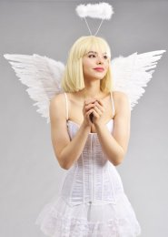 White Feather Fancy Dress Angel Wings