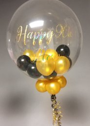 Personalised Birthday Multi Balloon Filled Bubble Balloon