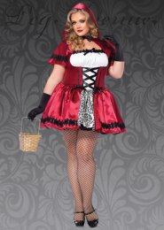 Leg Avenue Plus Size Gothic Red Riding Hood Costume
