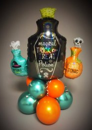 Large Spooky Halloween Potion Bottle Balloon Centrepiece