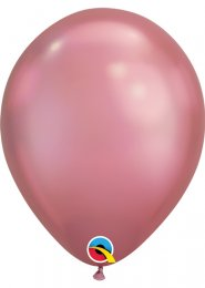 Qualatex Chrome Mauve Latex Balloons Pk5