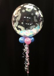 Baby Shower Feather Filled Deco Bubble Balloon