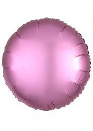Inflated Flamingo Pink Satin Luxe Circle Helium Balloon