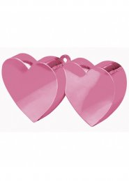 Pale Pink Double Heart Balloon Weight