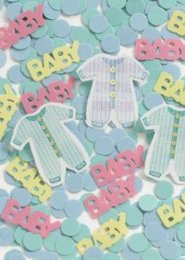Baby Shower Blue Baby Clothes Table Confetti