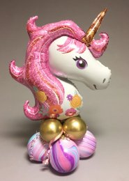 Large Pink Fantasy Unicorn Balloon Centrepiece