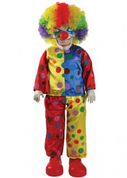 Halloween Creepy Evil Clown Scary Prop Doll