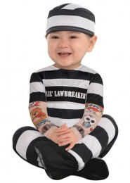 Baby Size Convict Law Breaker Costume