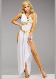 Womens Deluxe Golden Greek Goddess Costume