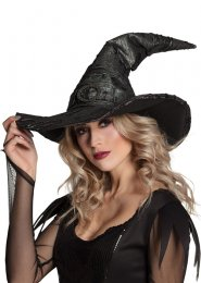 Womens Halloween Distressed Ophelia Witch Hat
