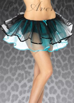 Womens Turquoise Blue Ribbon Trimmed Tutu
