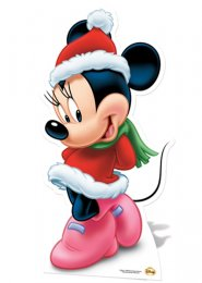 Disney Minnie Mouse Christmas Life Size Cut Out
