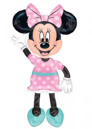 Inflated Large Pink Minnie Mouse Airwalker Helium Balloon