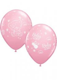 Pink Baby Girl Tatty Teddy Balloons Pack 5