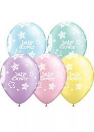 Baby Shower Assorted Latex Party Balloons Pack 6