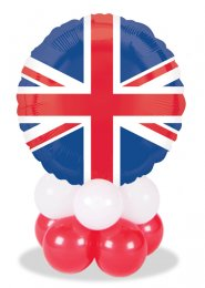 Union Jack Flag Inflated Balloon Centrepiece