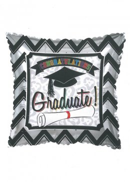 Graduation Square Foil Helium Balloon