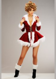 Womens The Grinch Style Martha May Costume