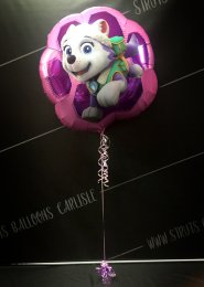 Inflated Pink Jumbo Paw Patrol Balloon