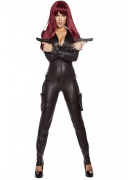 Womens Deluxe Black Widow Style Costume