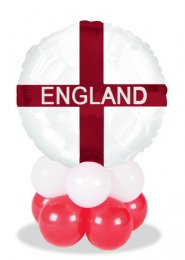 St George England Flag Inflated Balloon Centrepiece