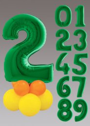 Green and Yellow Large Number Balloon Centrepiece