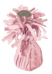 Pale Pink Foil Tassel Helium Balloon Weight