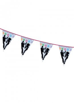 1970s Party Disco Flag Bunting Decoration