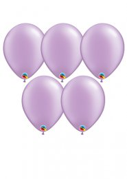 Pearl Lavender Lilac Latex Party Balloons Pack 5