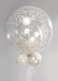 Silver Wedding Deco Bubble Balloon Centrepiece