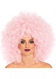Ladies Leg Avenue Pink Afro Wig
