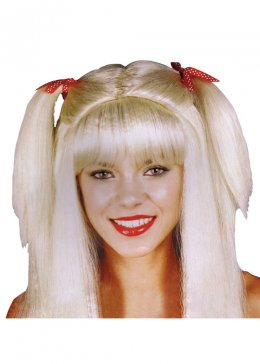 Womens Blonde Schoolgirl Bunches Wig