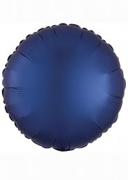 Inflated Navy Blue Satin Luxe Circle Helium Balloon
