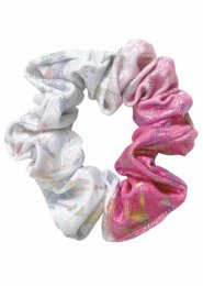 Gymnastics Pink and White Delight Hair Scrunchie