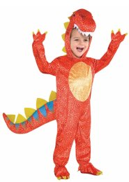 Childrens Orange Dinosaur Dinomite Costume