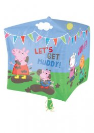 Inflated Peppa Pig Cubez Helium Party Balloon