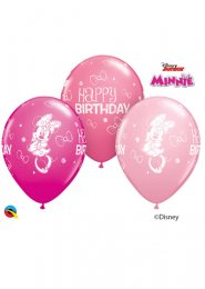 Pink Minnie Mouse Happy Birthday Party Balloons Pack 5