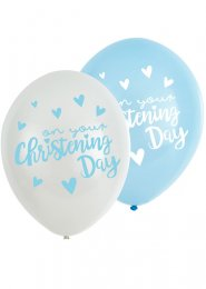 Blue On Your Christening Day Party Balloons Pk6