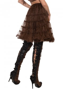 Adult Womens Brown Petticoat