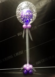 Purple Hen Party Miss To Mrs Deco Bubble Balloon