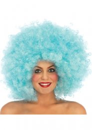 Ladies Leg Avenue Blue Afro Wig