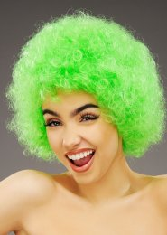 Bright Green Curly Pop Wig