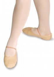 Pink Leather Full Sole Ballet Shoes