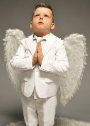 Boys White Feather Angel Wings