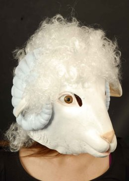 Adult Size Deluxe Rubber Sheep Mask