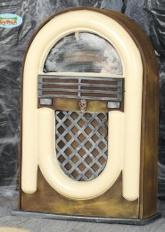 Halloween Vintage Radio Jukebox Prop with Light and Sound