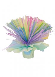Pastel Rainbow Helium Balloon Weight Table Centrepiece